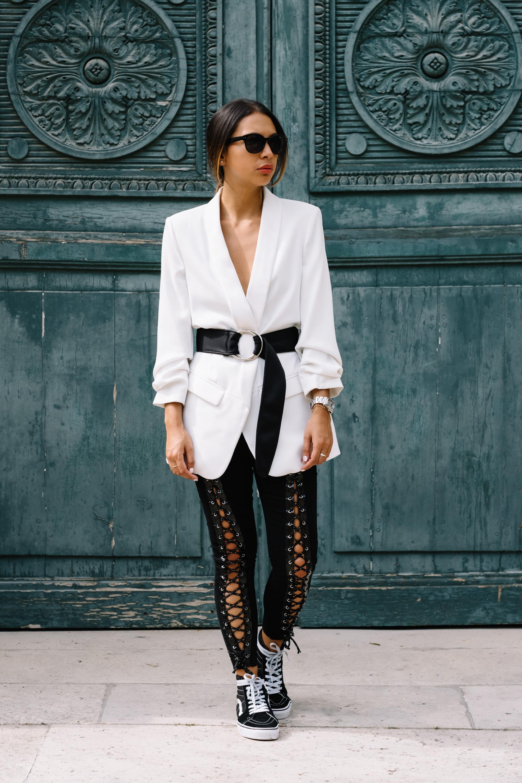 pantalon à lacets femme - bowsdontcry