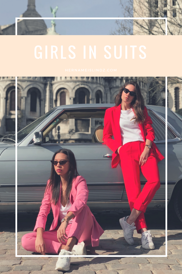 girls in suits - parisian style - Lindsay blogueuse