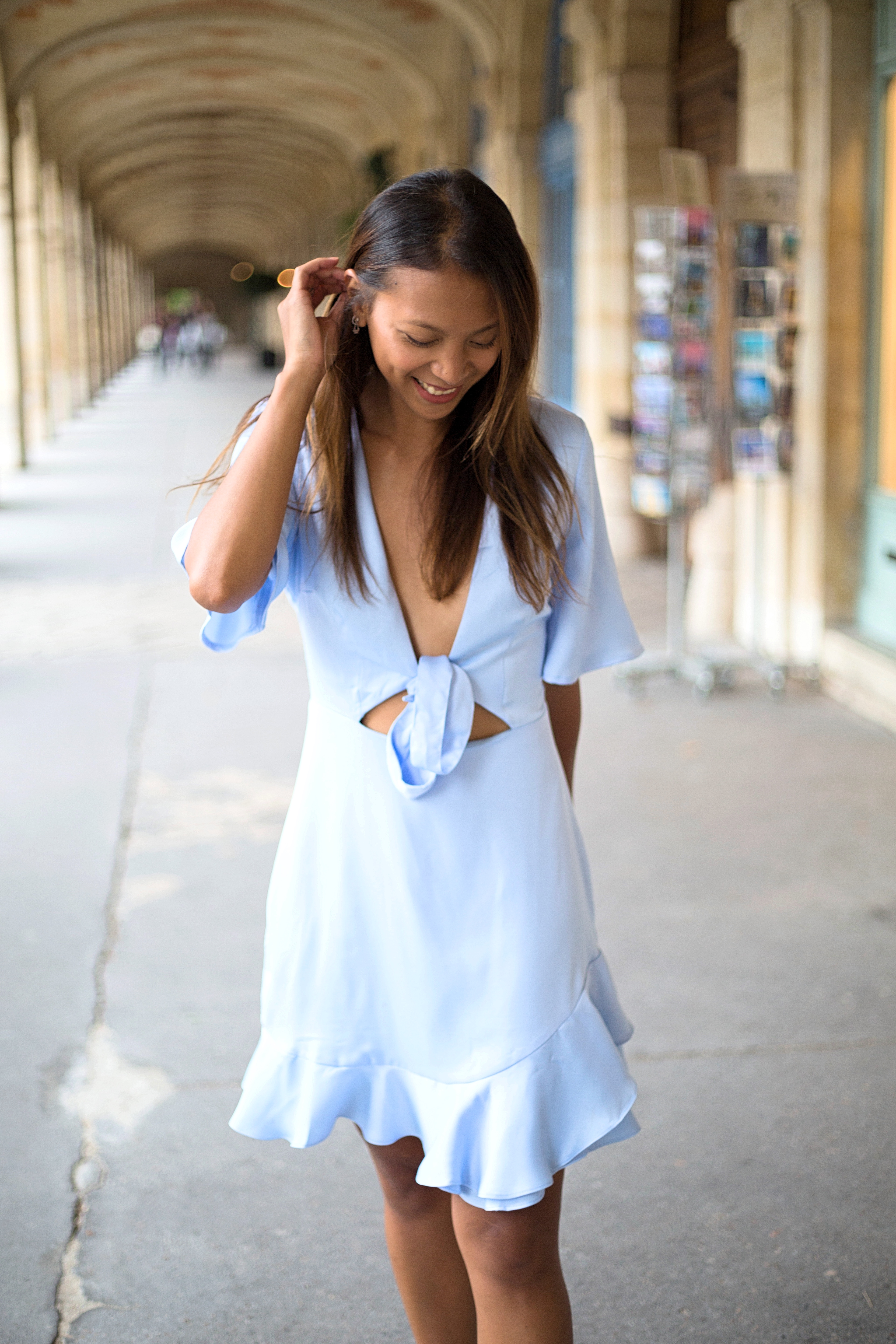 baby blue dress - by lindsay blogueuse