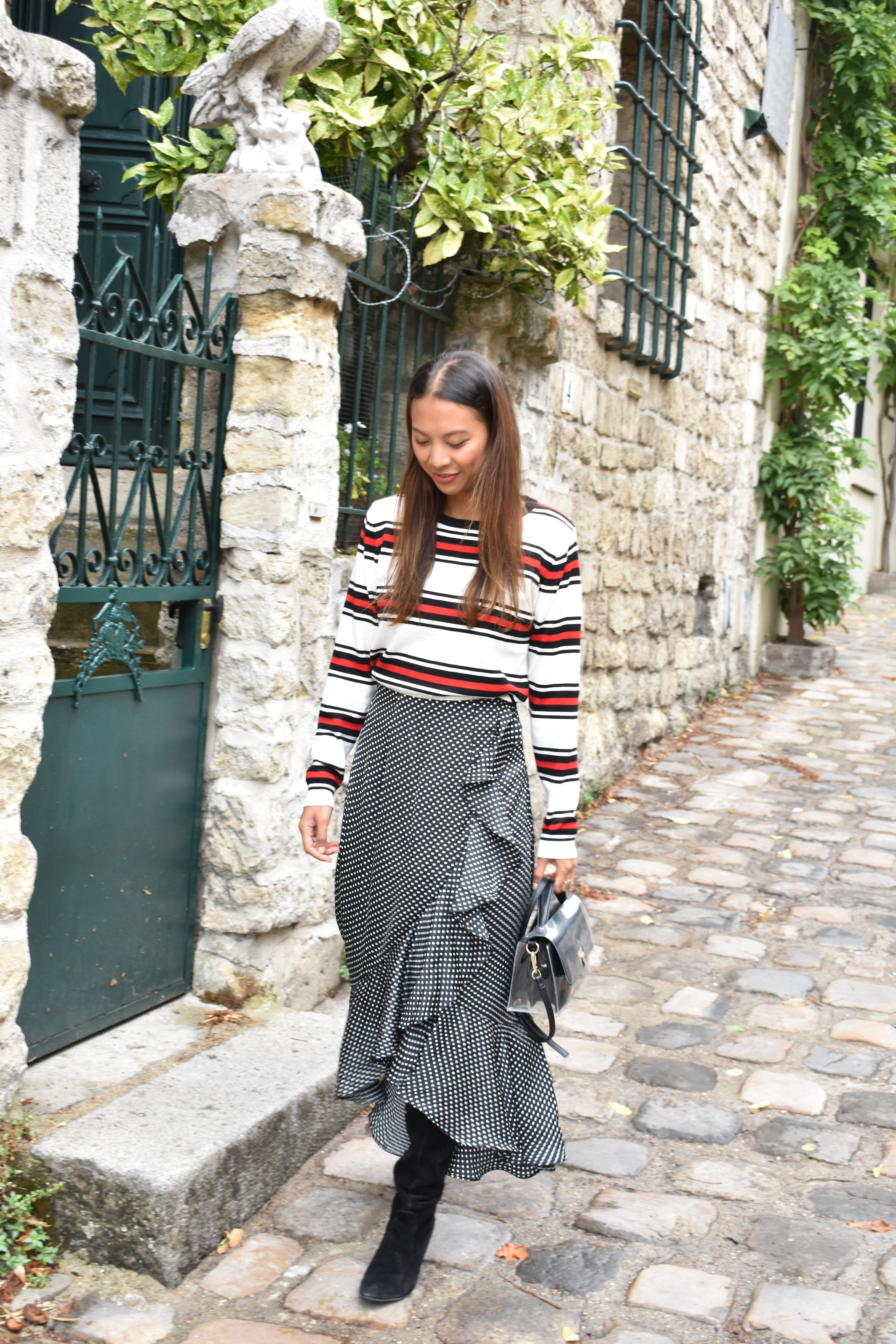 stripes and dots - Lindsay blogueuse