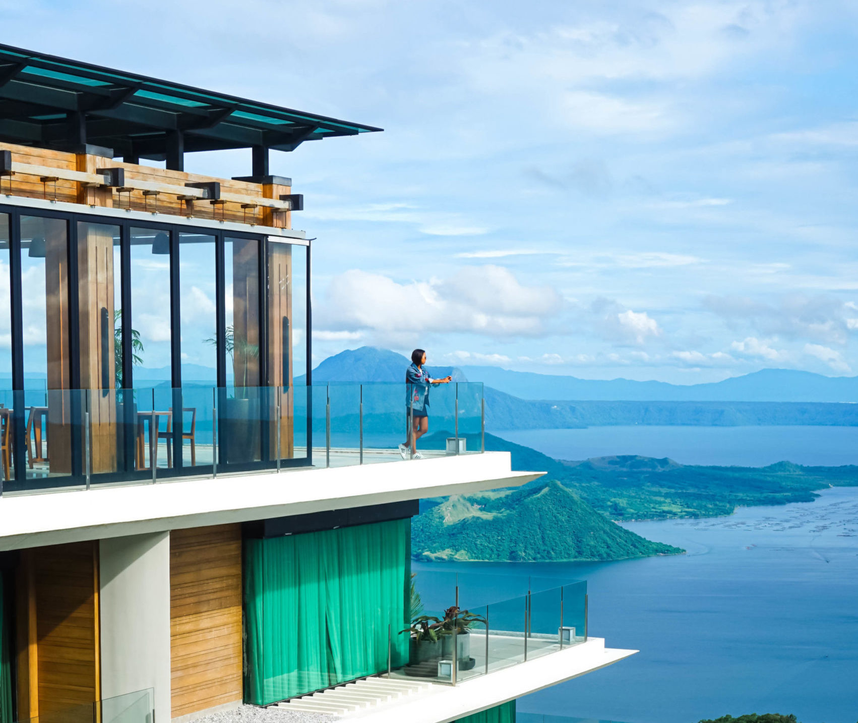 Escala hotel with a view of Taal volcano in Tagaytay, Philippines