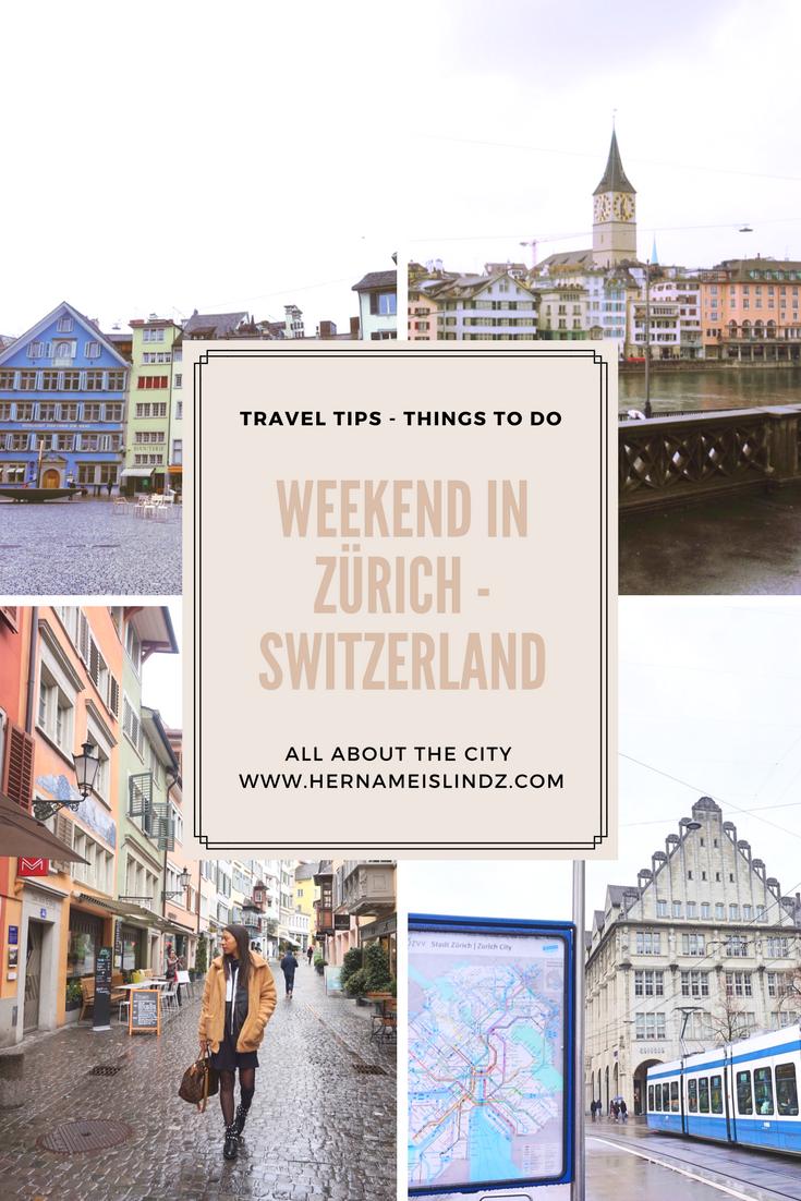 travel guide zürich
