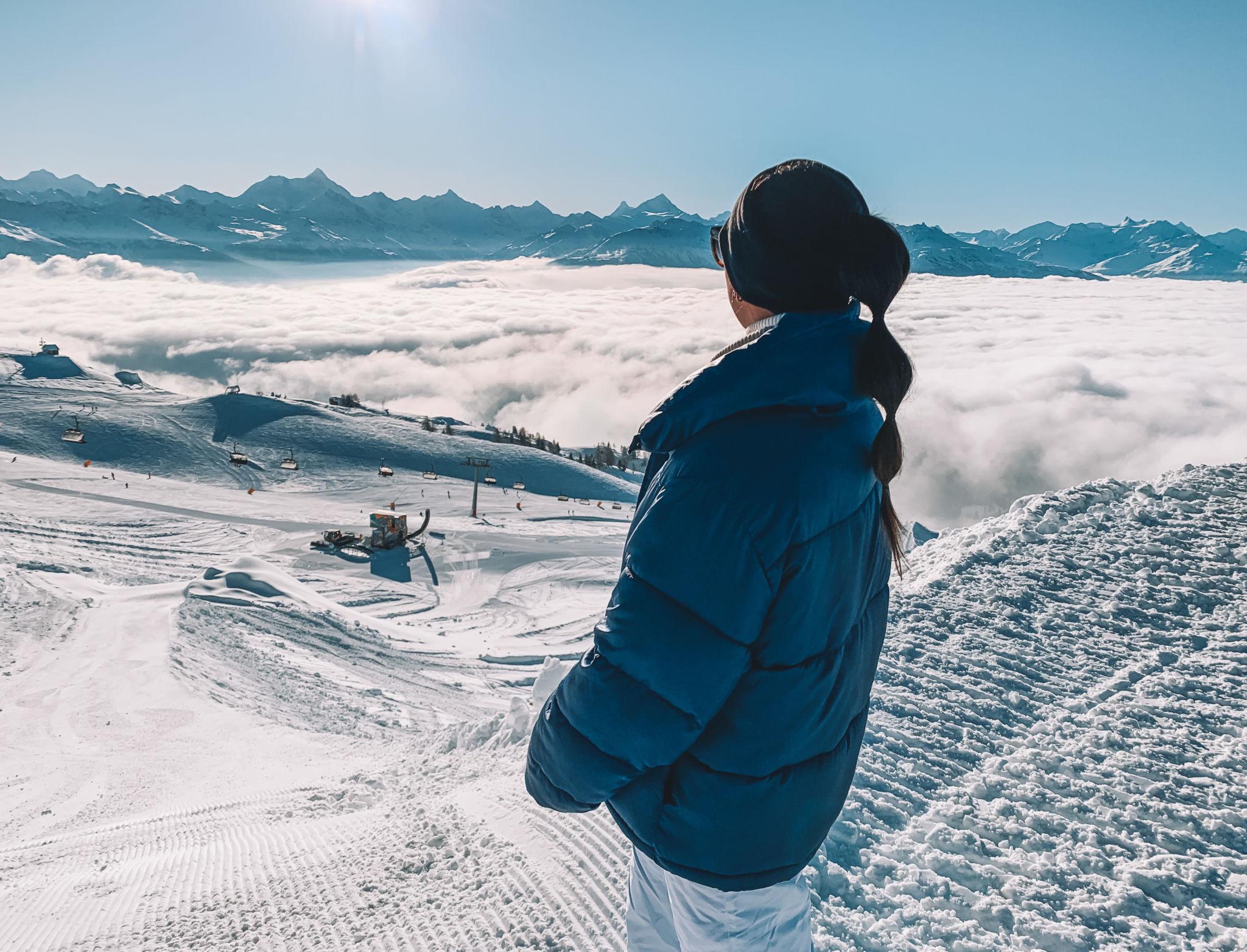 ski station in crans montana switzerland